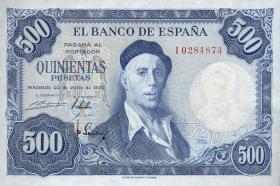 Spanien / Spain P.148 500 Pesetas 1954 (1958) (1)