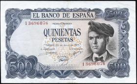 Spanien / Spain P.153 500 Pesetas 1971(73) (3/2)