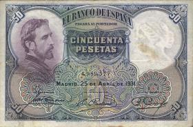 Spanien / Spain P.082 50 Pesetas 1931 (4)