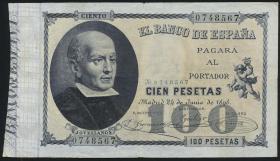 Spanien / Spain P.048 100 Pesetas 1898 (3-)