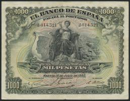 Spanien / Spain P.066a 1000 Pesetas 1907 (3)