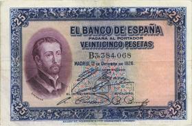 Spanien / Spain P.071a 25 Pesetas 1928 (3)