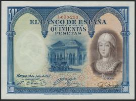 Spanien / Spain P.073 500 Pesetas 1927 (2/1)