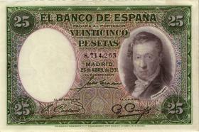 Spanien / Spain P.081 25 Pesetas 1931 (2)