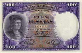 Spanien / Spain P.083 100 Pesetas 1931 (2)