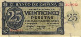 Spanien / Spain P.099 25 Pesetas 1936 (3)