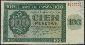 Spanien / Spain P.101 100 Pesetas 1936 (2)