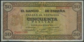 Spanien / Spain P.112 50 Pesetas 1938 (3)