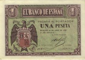 Spanien / Spain P.108 1 Peseta 1938 (1-)