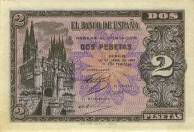 Spanien / Spain P.109 2 Pesetas 1938 (1/1-)