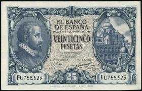 Spanien / Spain P.116 25 Pesetas 1940 (2)