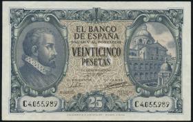 Spanien / Spain P.116 25 Pesetas 1940 (3+)