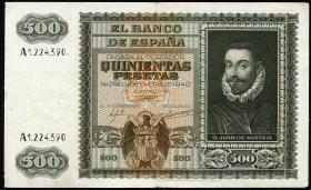 Spanien / Spain P.119 500 Pesetas 1940 (1945) (3+)