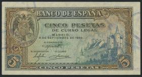 Spanien / Spain P.123 5 Pesetas 1940 (1)