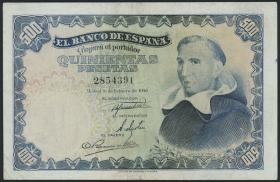 Spanien / Spain P.132 500 Pesetas 1946 (1949) (3)