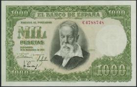 Spanien / Spain P.143 1000 Pesetas 1951 (1)