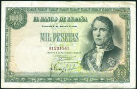 Spanien / Spain P.138 1000 Pesetas 1949 (3)