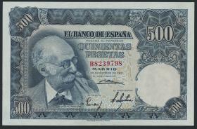 Spanien / Spain P.142 500 Pesetas 1951 (2)