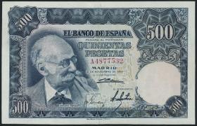 Spanien / Spain P.142 500 Pesetas 1951 (2+)