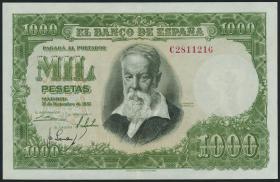 Spanien / Spain P.143 1000 Pesetas 1951 (2+)