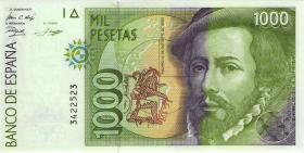 Spanien / Spain P.163 1000 Pesetas 1992 (1) 1. Auflage