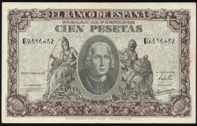 Spanien / Spain P.118 100 Pesetas 1940 (2)