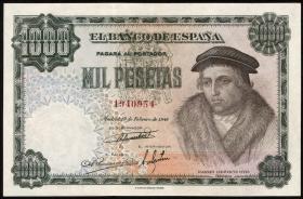 Spanien / Spain P.133 1000 Pesetas 1946 (1948) (1/1-)