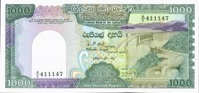 Sri Lanka P.101a 1000 Rupien 1987 (1)