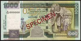 Sri Lanka P.120bs 1000 Rupien 10.4.2004 Specimen (1)