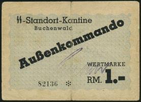 SS Standortkantine Buchenwald Außenkommando 1 RM (3-)