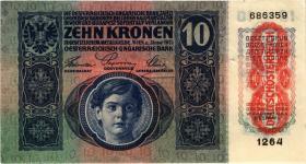Österreich / Austria P.051 10 Kronen 1915 (1919) (3)