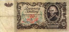 Österreich / Austria P.129a 20 Schilling 1950 Haydn (3-)