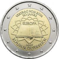 Österreich 2 Euro 2007 Römische Verträge