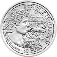 Österreich 20 Euro 2010 Claudius/ Virunum