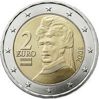 Österreich 2 Euro 2008 Kursmünze