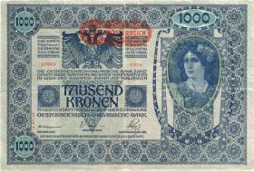 Österreich / Austria P.061 1000 Kronen 1902 (1919) II. Auflage (2)