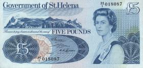 St. Helena / Saint Helena P.07a 5 Pounds (1976) (1)