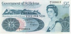 St. Helena / Saint Helena P.07b 5 Pounds  (1976) (1)