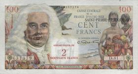 St. Pierre & Miquelon P.32 2 NF auf 100 Francs (1963) (1)
