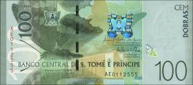 St. Thomas / Saint Thomas and Prince P.neu 100 Dobras 2016 Polymer (1)