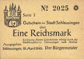 Stadt Schleusingen (Thüringen) Notgeld 10.4.1945 (1)