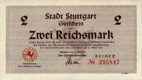 Notgeld Stadt Stuttgart 2 Reichsmark 1.5.1945 (1-)