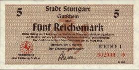 Notgeld Stadt Stuttgart 5 Reichsmark 1.5.1945 (1)