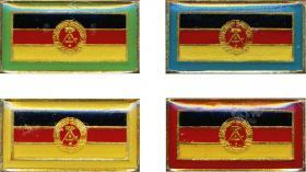Stasi-Observationsabzeichen - DDR-Flaggenausgabe (4 Stück)