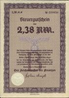 Steuergutschein 2,38 Reichsmark 1937 (1)