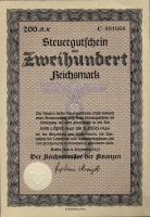 Steuergutschein 200 Reichsmark 1937 (1)