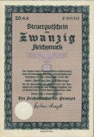 Steuergutschein 20 Reichsmark 1937 (1) Serie B