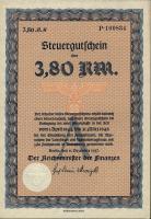 Steuergutschein 3,80 Reichsmark 1937 (1944) (1)