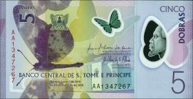 St. Thomas / Saint Thomas and Prince P.70 5 Dobras 2016 Polymer (1)