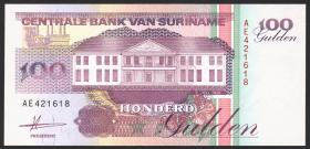 Surinam / Suriname P.139a 100 Gulden 1991 (1)